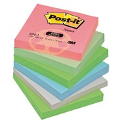 Bloc Post-It recyclé 76 x 76 mm geassorteerde pastelkeuren