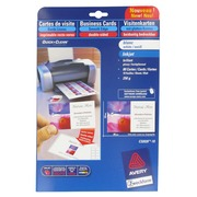 Pak van 80 visitekaartjes inkjet Avery Quick and Clean C32028 85 x 54 mm 240 g wit