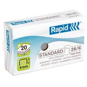 Box of 1000 standard staples Rapid - 26/6