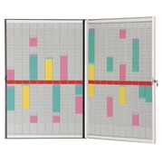 Multifunctional planner for T-cards foldable 2 x 10 columns Nobo