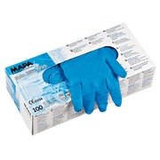 Box of 100 disposable latex gloves, not powdered size 6