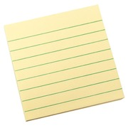 Post-it block, ruled yellow 76 x 76 mm