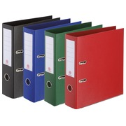 Plasticized lever-arch organizer - back 7,2 cm - red