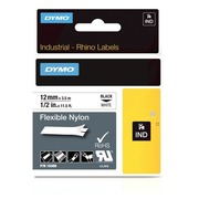 Flexible nylon ribbon Dymo Rhino 12 mm 18488 white with black print