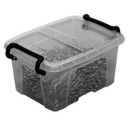 Storage box 0,4 L Strata transparent