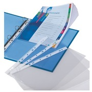 10 perforated sleeves Elba A4 large capacity smooth polypropylene 9/100e