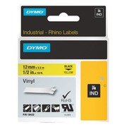 Vinyl ribbon Dymo Rhino 12 mm 18432 yellow with black text