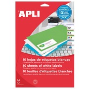 Box of 440 address labels Apli for inkjet, laser and copier - white 48.5 x 25.4 mm