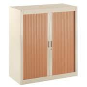 Dismountable tambour cabinet Union 100 x 90 cm shutters in wood colour beige