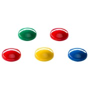 Magnets Budget - diameter Ø 20 mm assorted colors - pack of 8