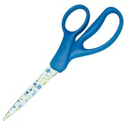 Scissors for left- and right-handed people sharp point 17,5 cm with print
