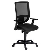 Nao Office Chair with Adjustable 1D Armrest - Black