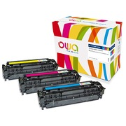 Pack of 3 toners Armor Owa compatible HP 305A cyan, magenta, yellow