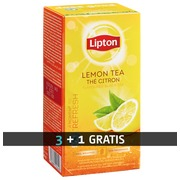 Pack 3 boxes (25 packs by box) black tea with lemon Lipton + 1 box for free