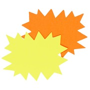 Labels in cardboard crenated yellow/orange 160 x 120 mm Apli - box of 50