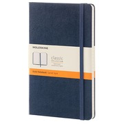Notebook Moleskine strong 13 x 21 cm ivory lined 240 pages - dark blue
