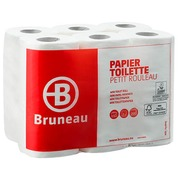 Toilet paper double layered Bruneau - box with 48 rolls of 200 sheets