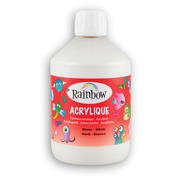 Rainbow acrylverf, flacon van 500 ml, wit