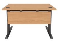 Modesty panel, beech, for Excellence Metal Pro desk 120 cm, anthracite fixations