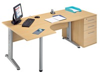 Compact desk Altys 2 left angle