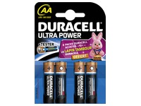 Alcaline battery AA - LR6 Duracell Ultra Power - Blister of 4