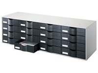 Storage block, 16 drawers