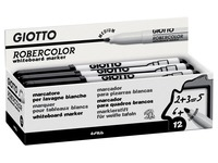 Giotto Robercolor whiteboardmarker, medium, ronde punt, zwart