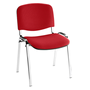Classic conference chair with chromed legs