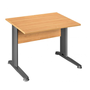 Straight desk, alder top 120 x 80 cm, metallic legs