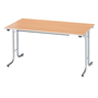 Classic folding table rectangular 140 x 70 cm beech